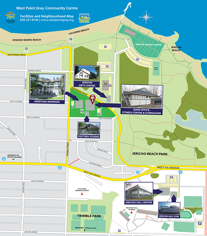 West Point Grey Community Centre Facilities Map